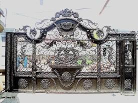 gerbang-besi-tempa -mewah-pintu-klasik